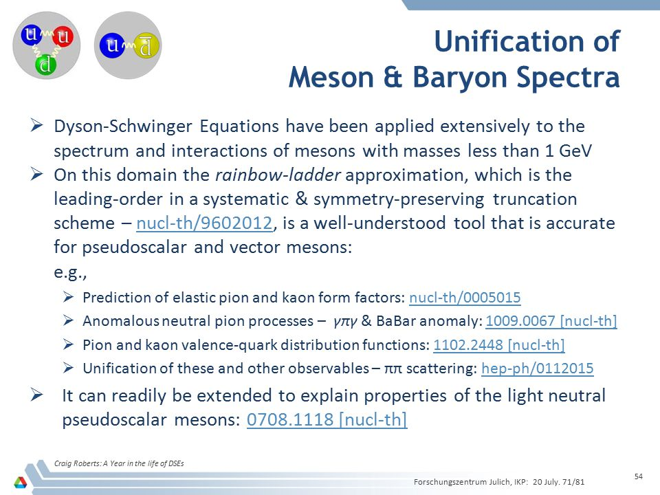 Unification of Meson & Baryon Spectra