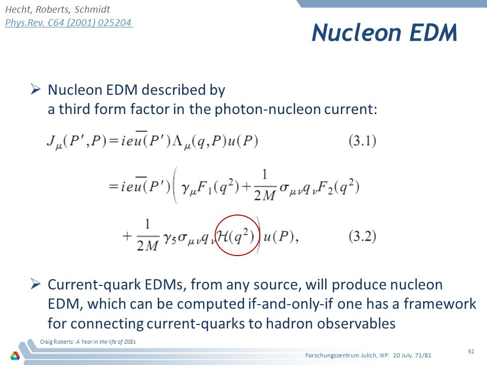 Nucleon EDM Nucleon EDM described by