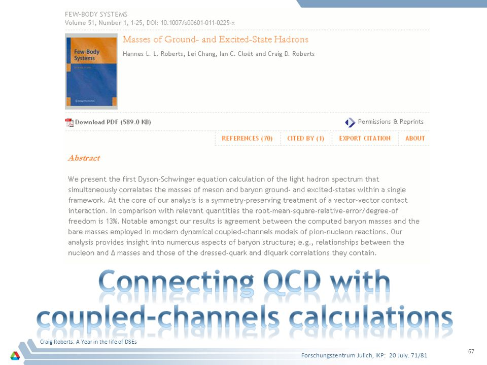 Connecting QCD with coupled-channels calculations