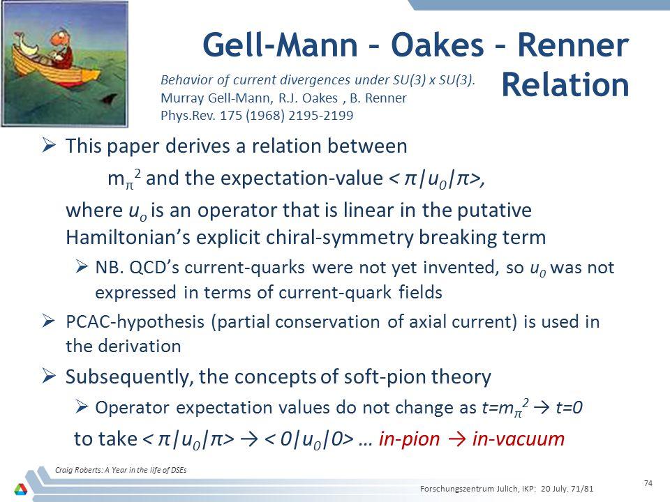 Gell-Mann – Oakes – Renner Relation
