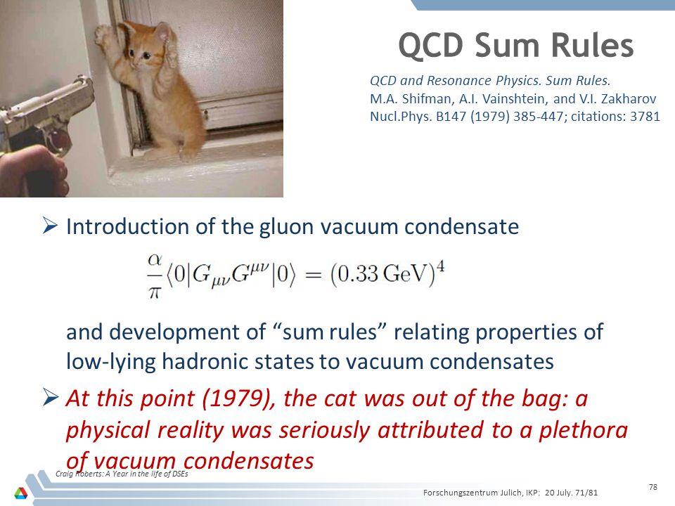 QCD Sum Rules QCD and Resonance Physics. Sum Rules. M.A. Shifman, A.I. Vainshtein, and V.I. Zakharov.