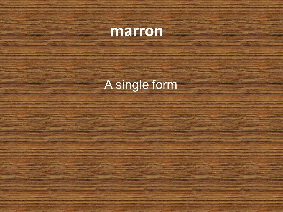 marron A single form