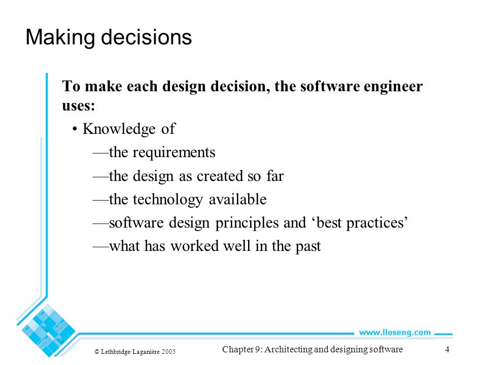 Chapter 9: Architecting and designing software