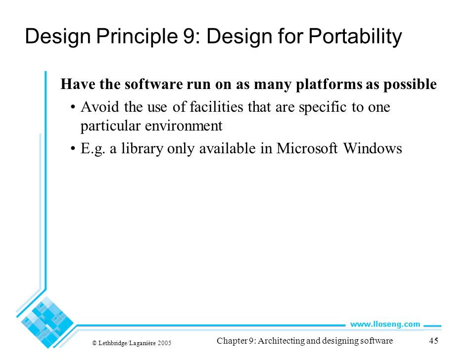 Design Principle 9: Design for Portability