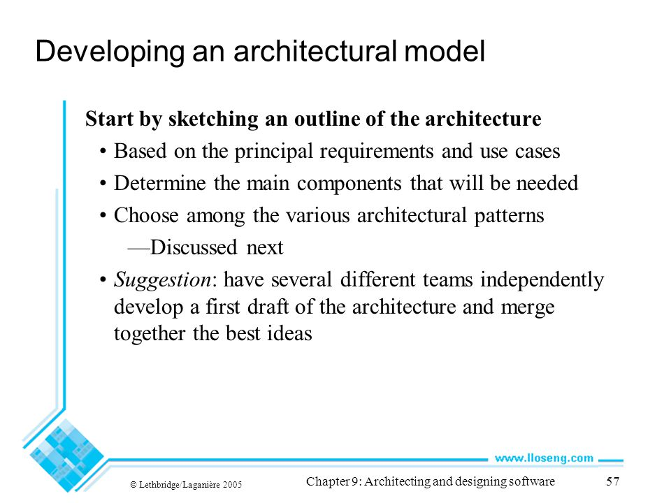 Developing an architectural model