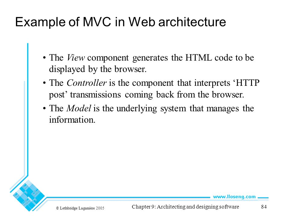 Example of MVC in Web architecture