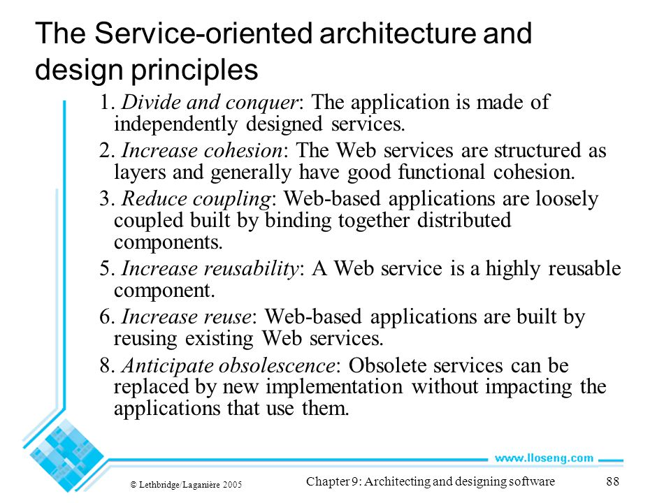 The Service-oriented architecture and design principles