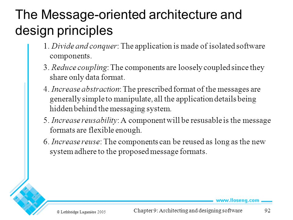 The Message-oriented architecture and design principles