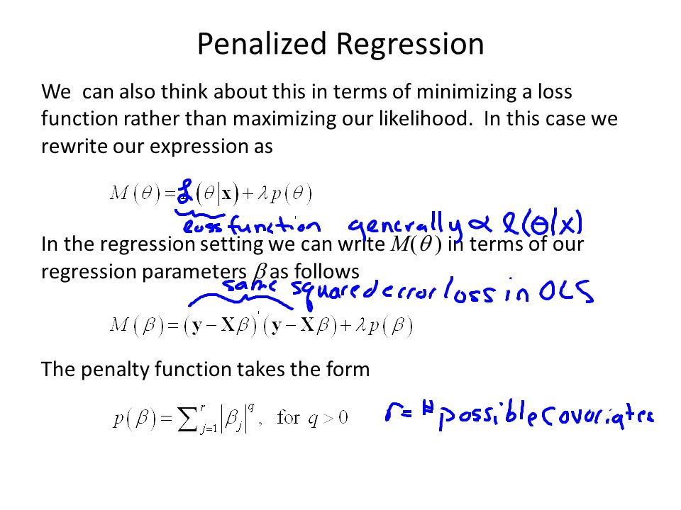 Penalized Regression