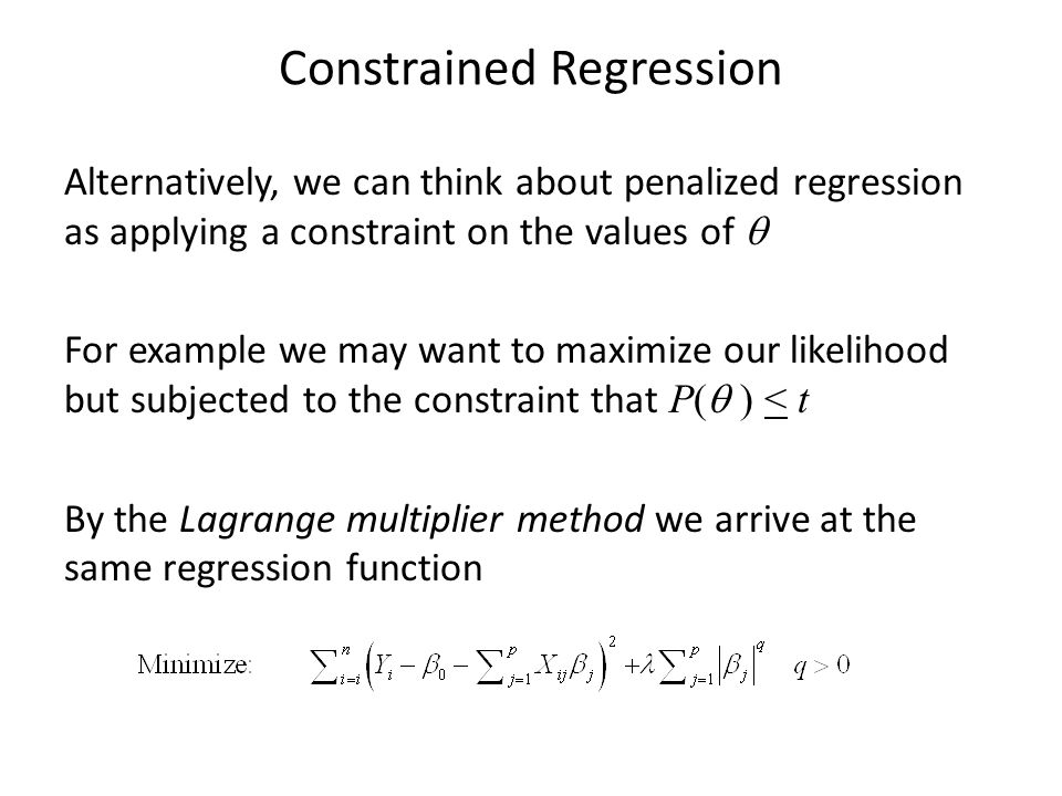 Constrained Regression