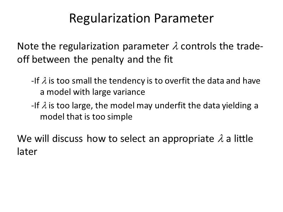Regularization Parameter