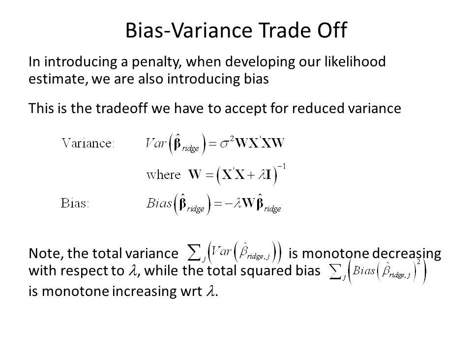 Bias-Variance Trade Off