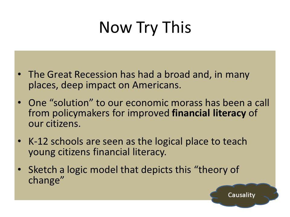 Now Try This The Great Recession has had a broad and, in many places, deep impact on Americans.