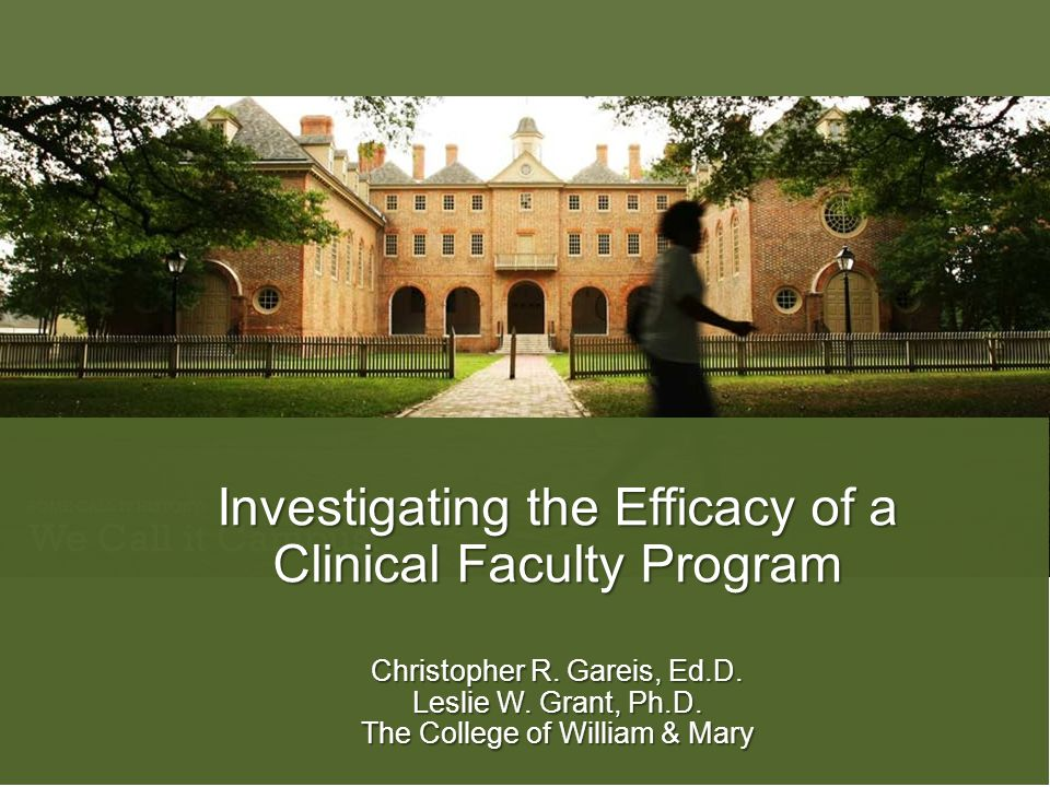 Investigating the Efficacy of a Clinical Faculty Program