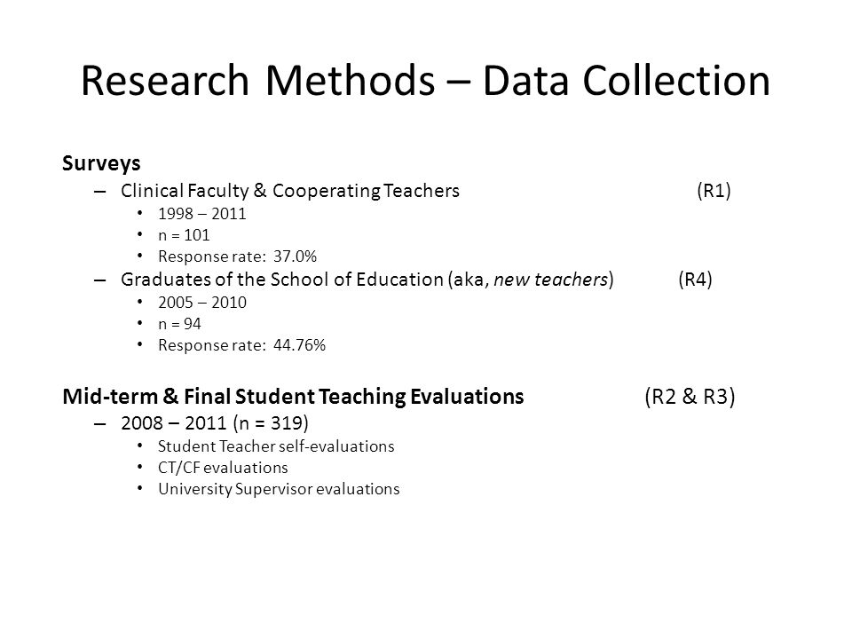 Research Methods – Data Collection