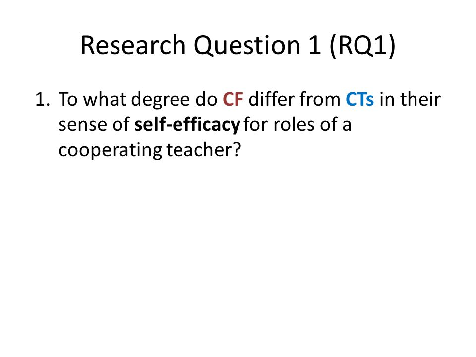 Research Question 1 (RQ1)