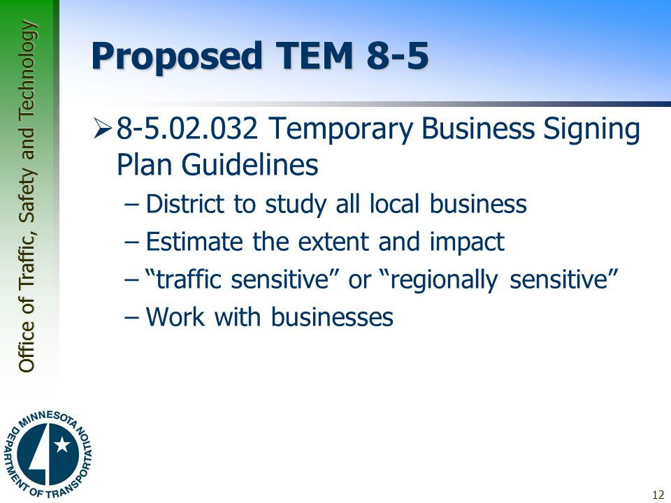 Proposed TEM 8-5 8-5.02.032 Temporary Business Signing Plan Guidelines