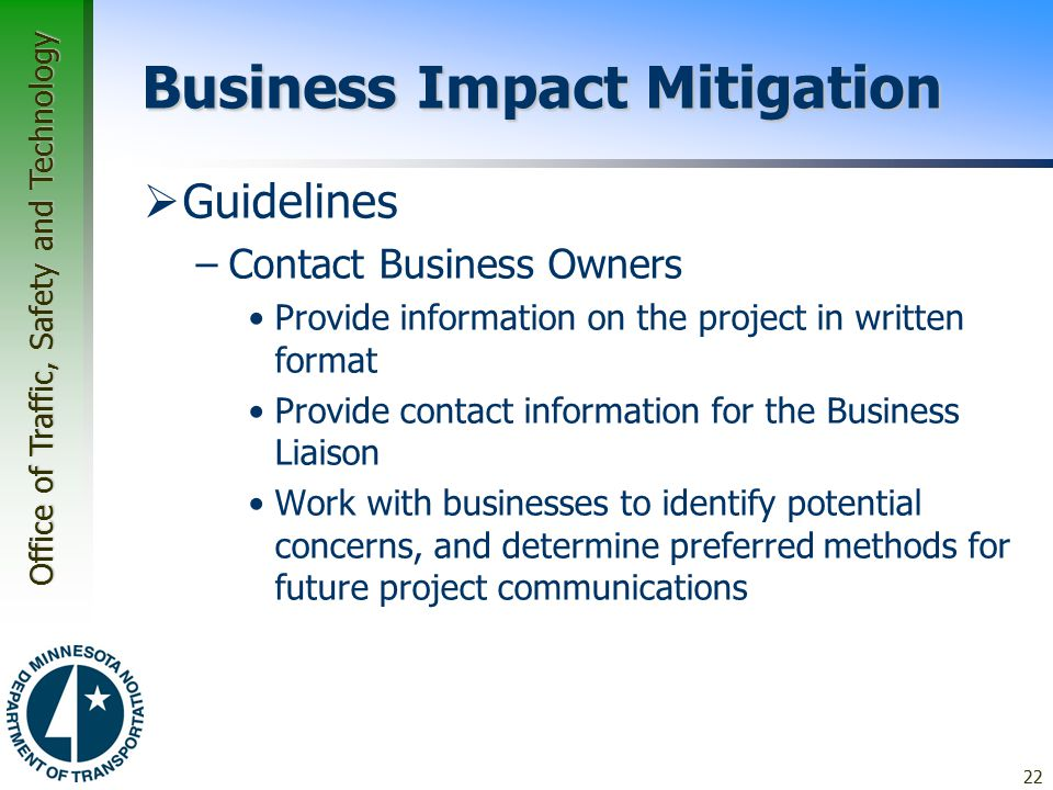 Business Impact Mitigation