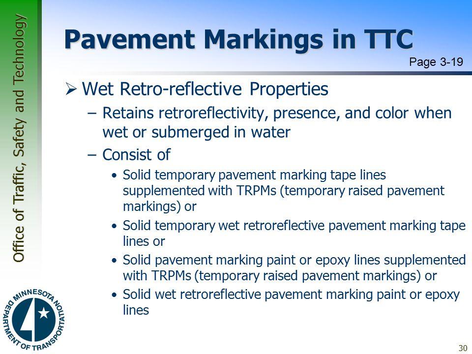 Pavement Markings in TTC