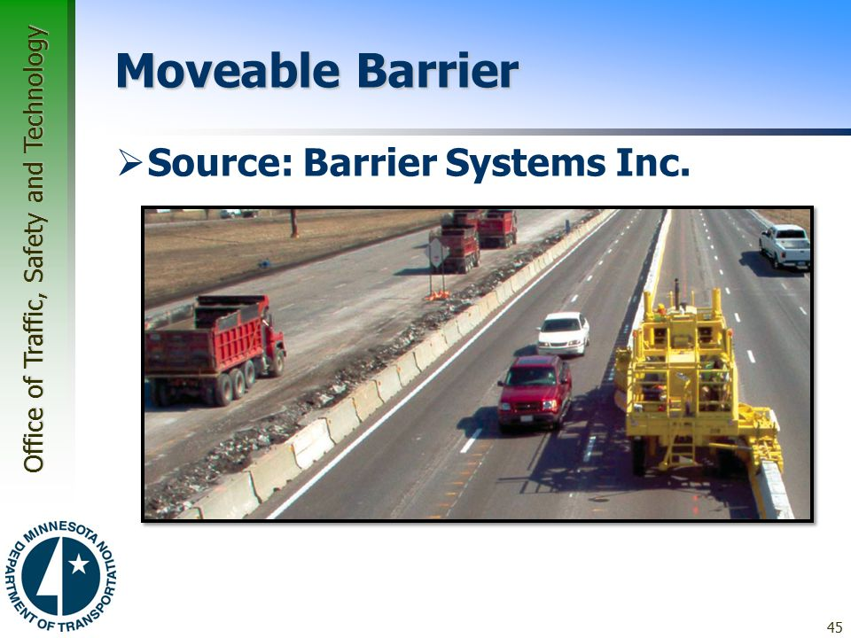 Moveable Barrier Source: Barrier Systems Inc.