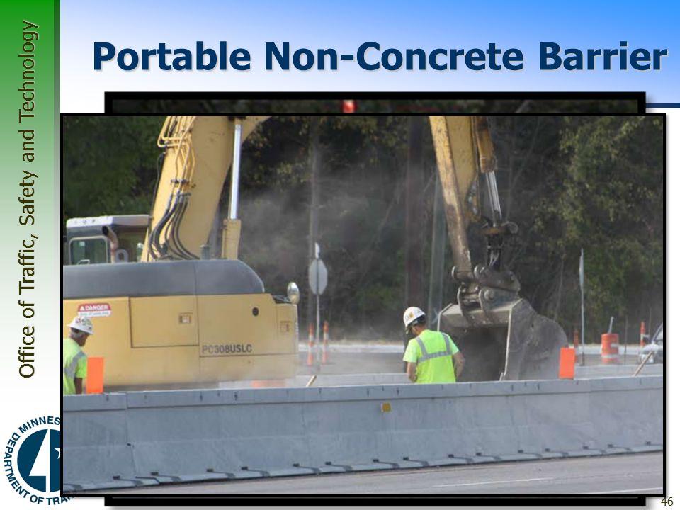 Portable Non-Concrete Barrier