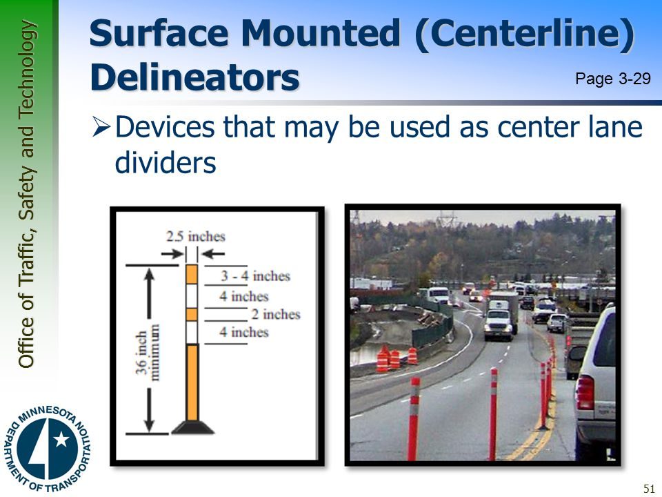 Surface Mounted (Centerline) Delineators