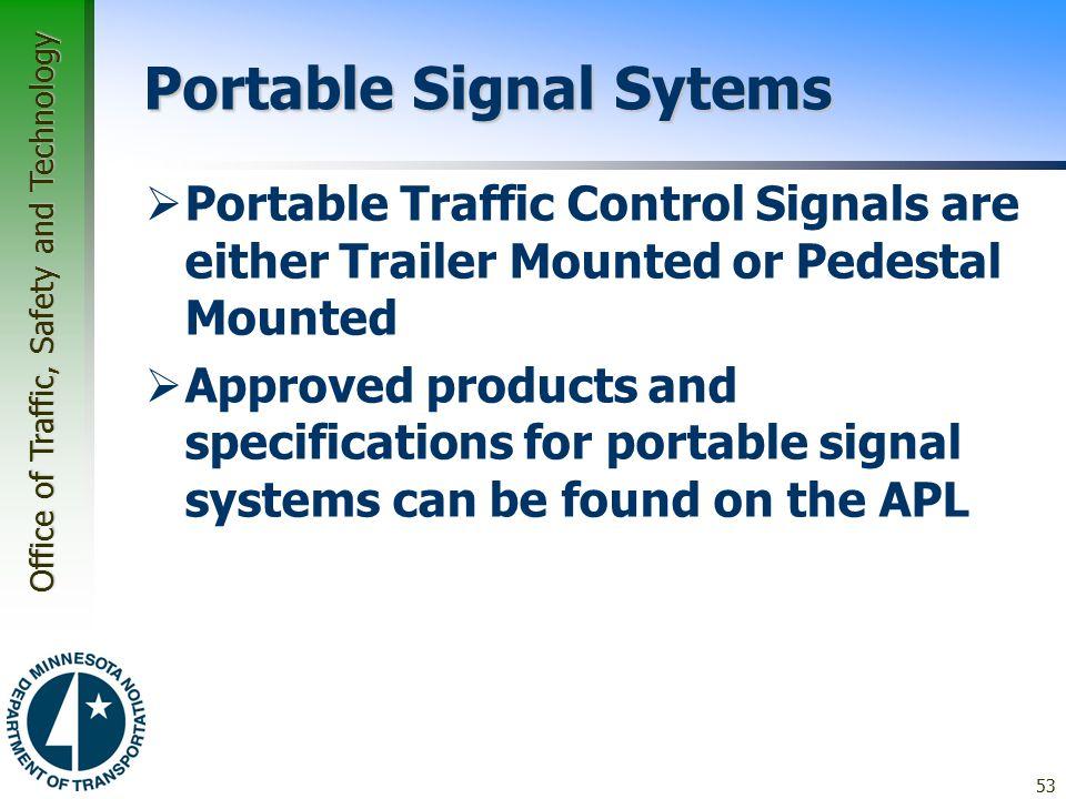 Portable Signal Sytems