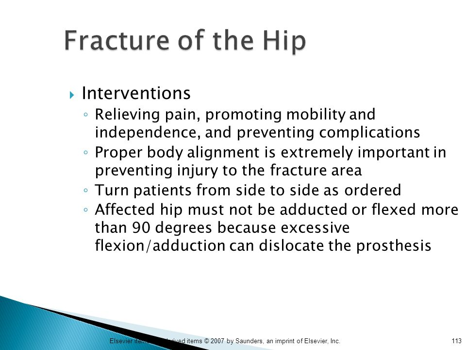 Fracture of the Hip Interventions
