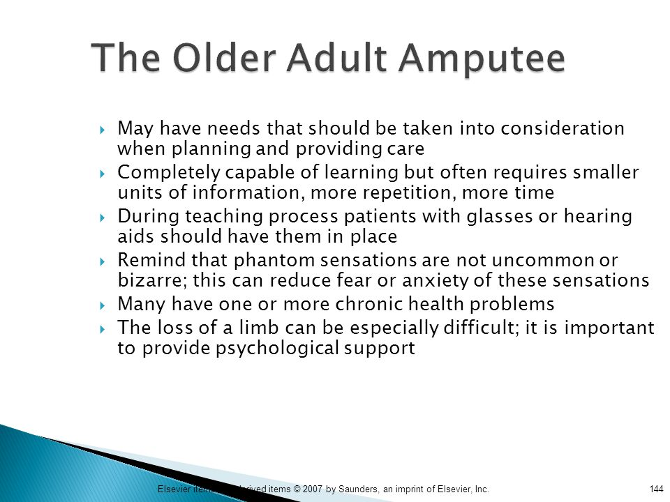 The Older Adult Amputee