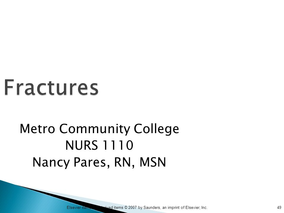 Metro Community College NURS 1110 Nancy Pares, RN, MSN