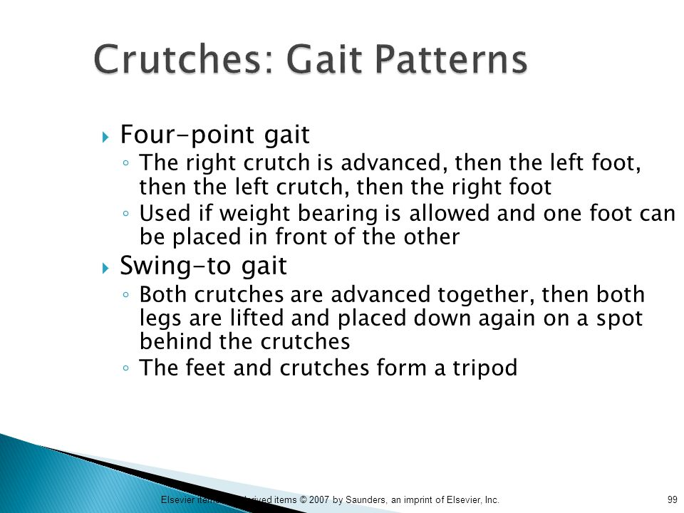Crutches: Gait Patterns