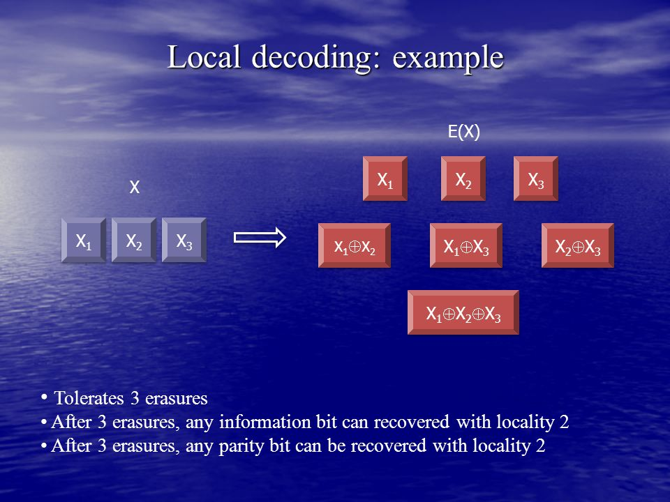 Local decoding: example