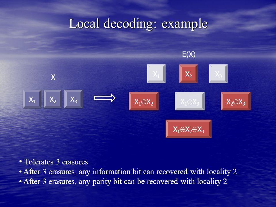 Local decoding: example
