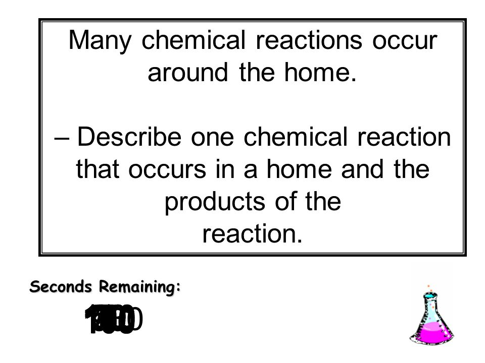 Many chemical reactions occur around the home