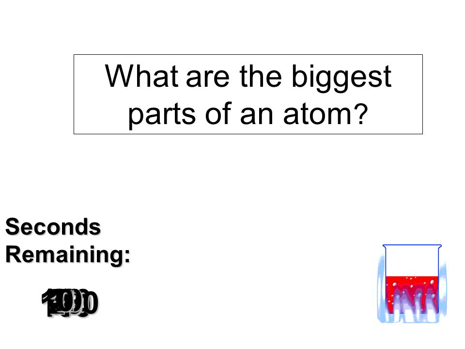 What are the biggest parts of an atom