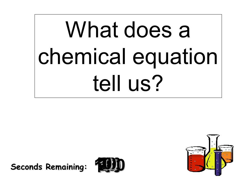 What does a chemical equation tell us