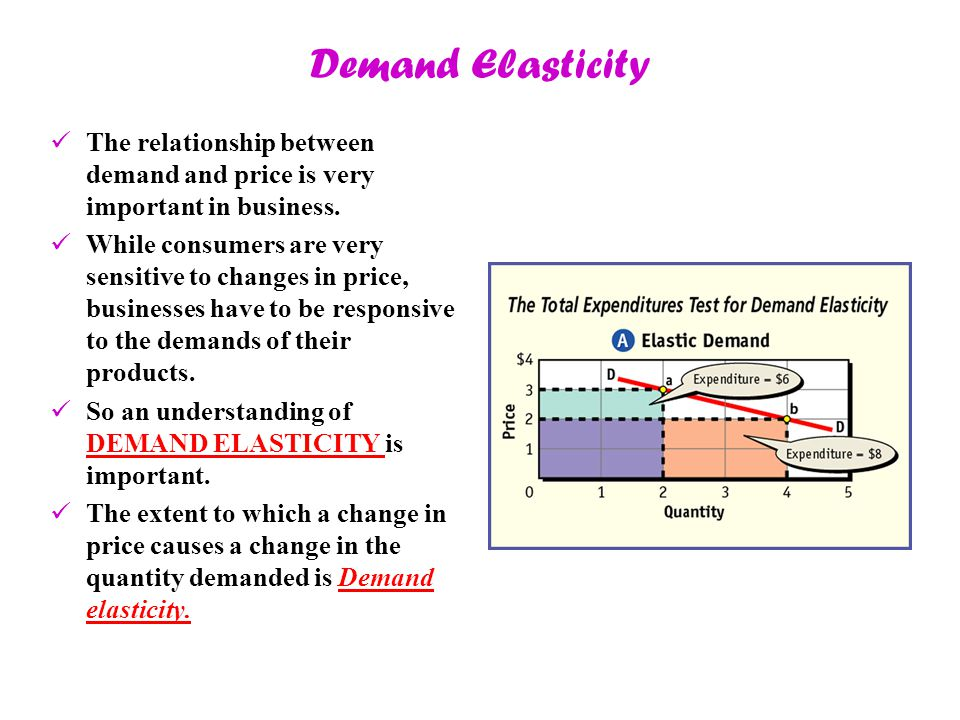 Demand Elasticity The relationship between demand and price is very important in business.
