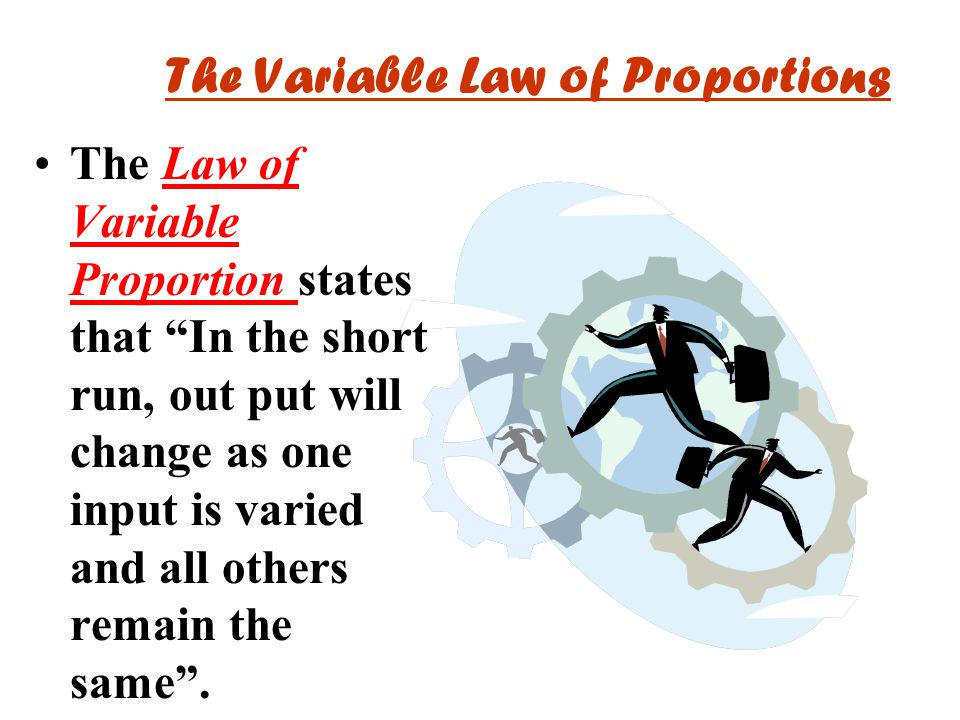 The Variable Law of Proportions