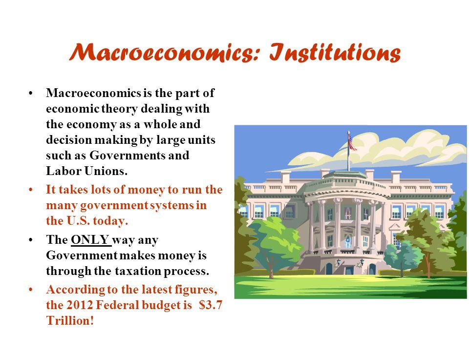 Macroeconomics: Institutions