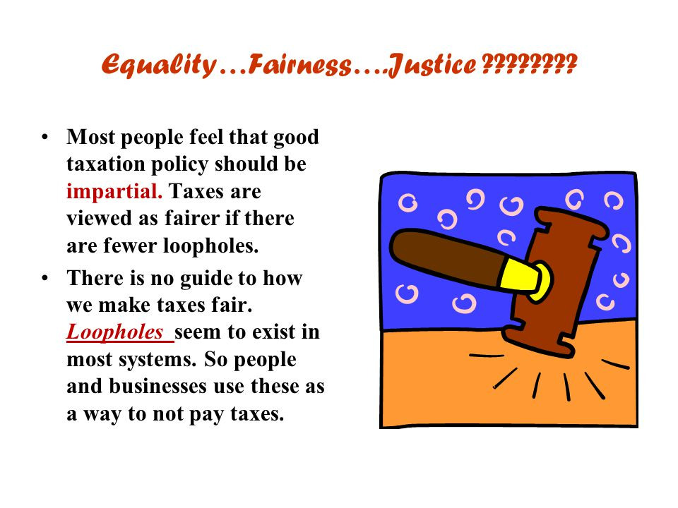 Equality…Fairness….Justice