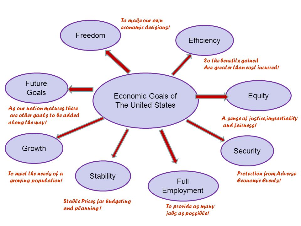 Freedom Efficiency Future Goals Economic Goals of Equity