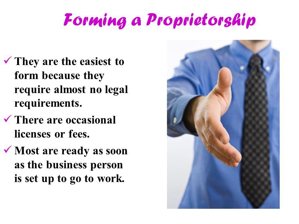 Forming a Proprietorship