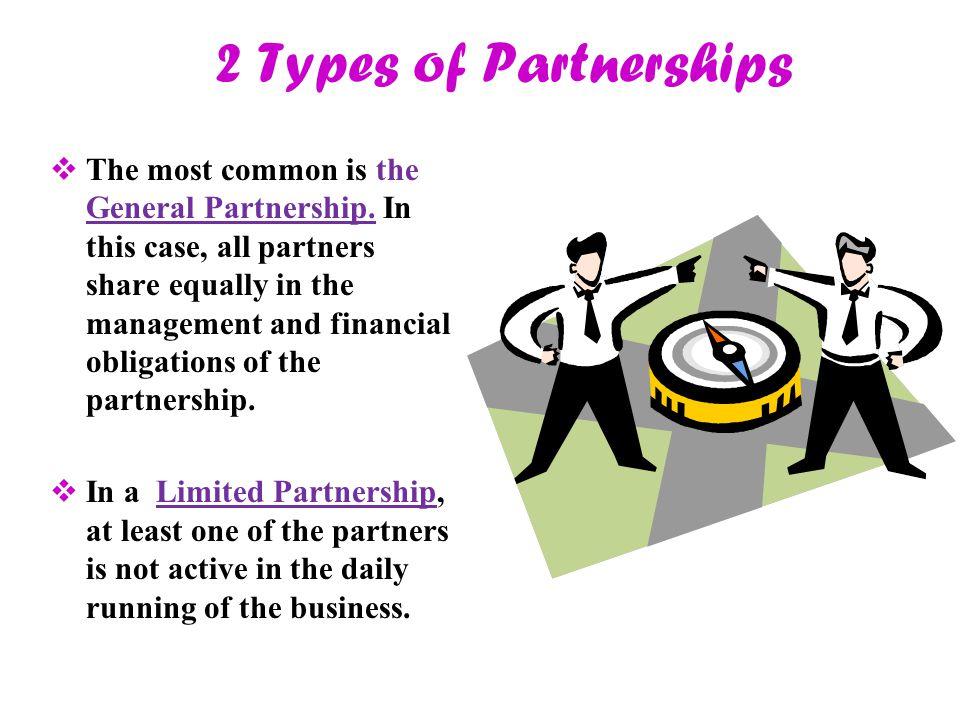 2 Types of Partnerships