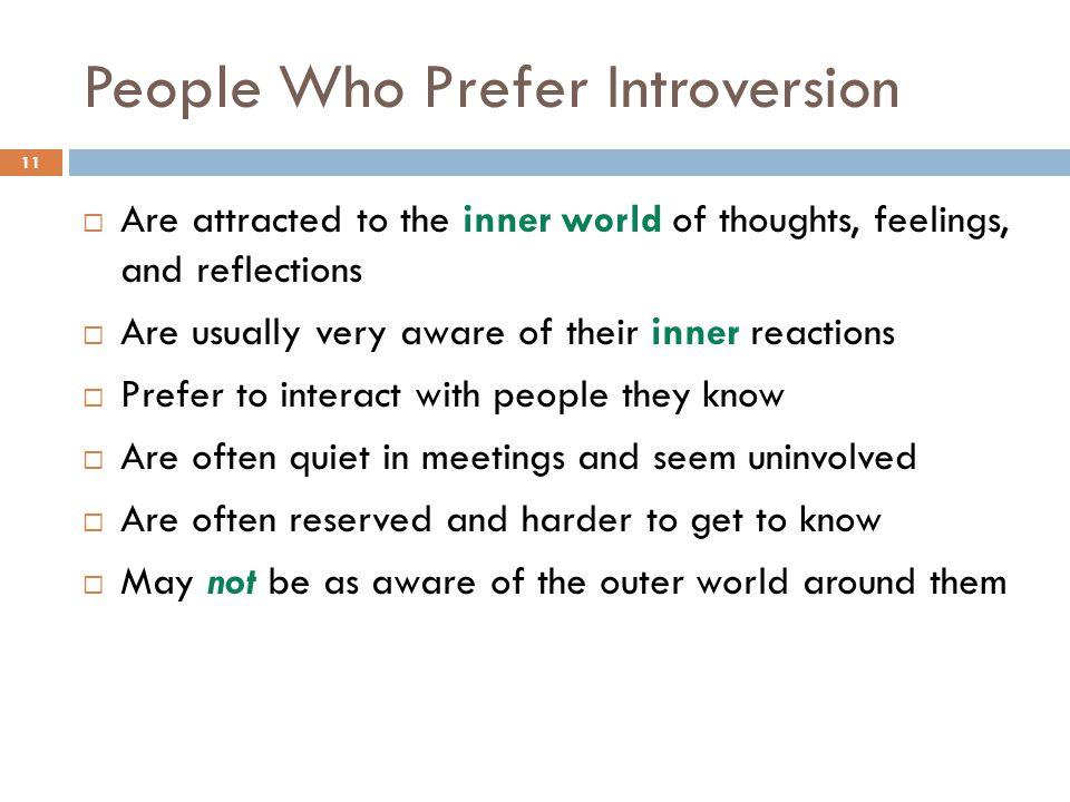 People Who Prefer Introversion
