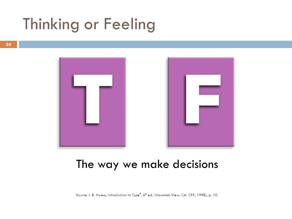 The way we make decisions