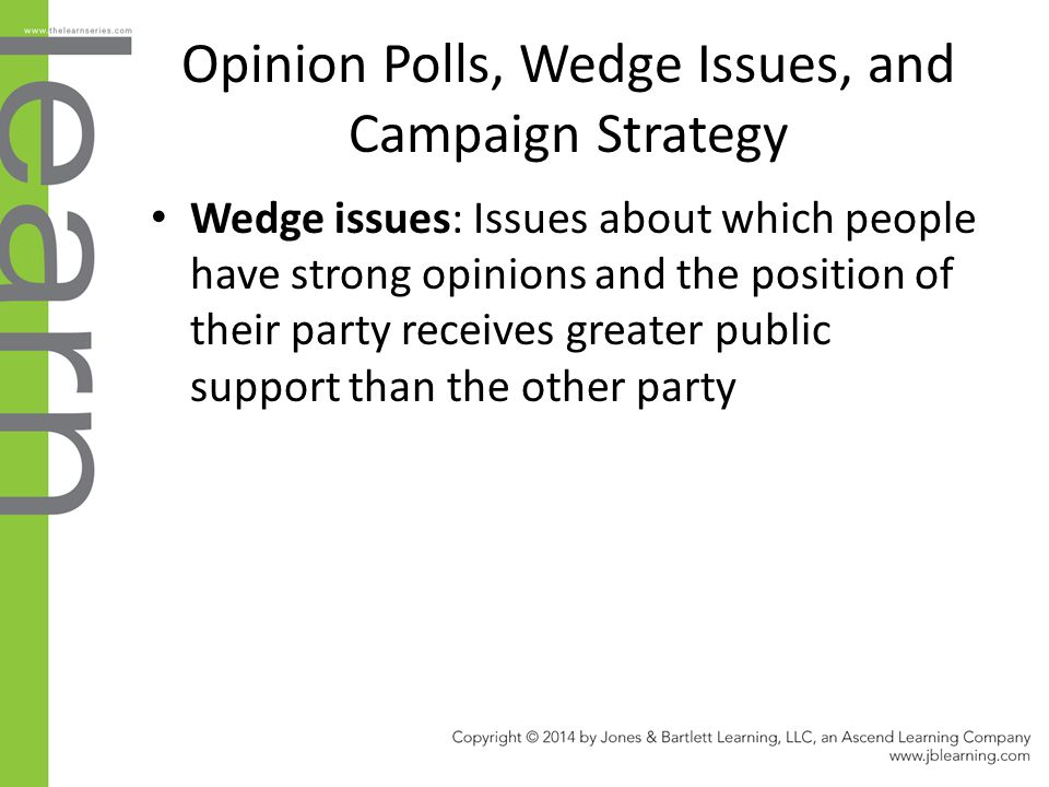 Opinion Polls, Wedge Issues, and Campaign Strategy