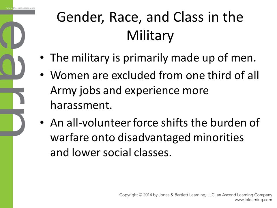Gender, Race, and Class in the Military
