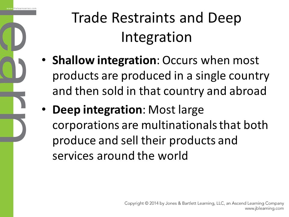 Trade Restraints and Deep Integration