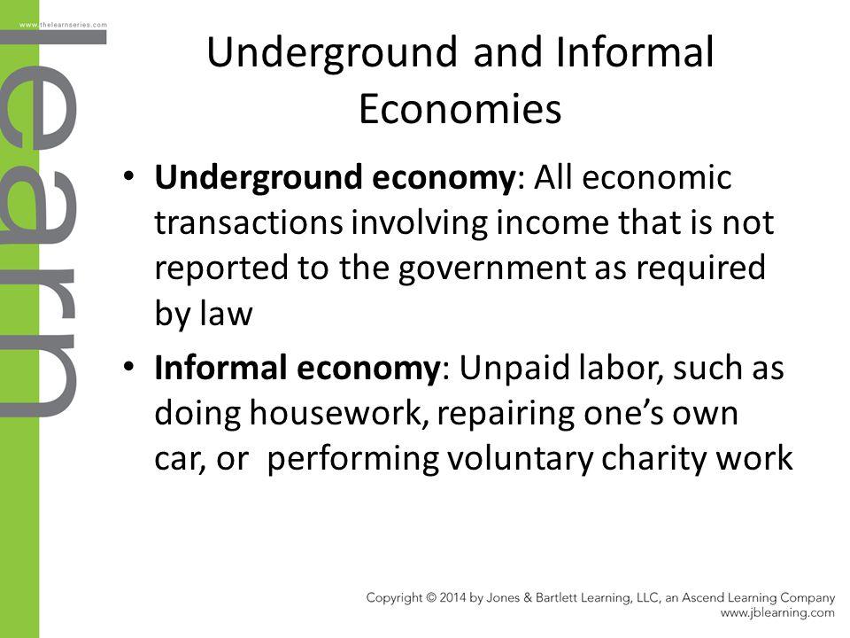 Underground and Informal Economies