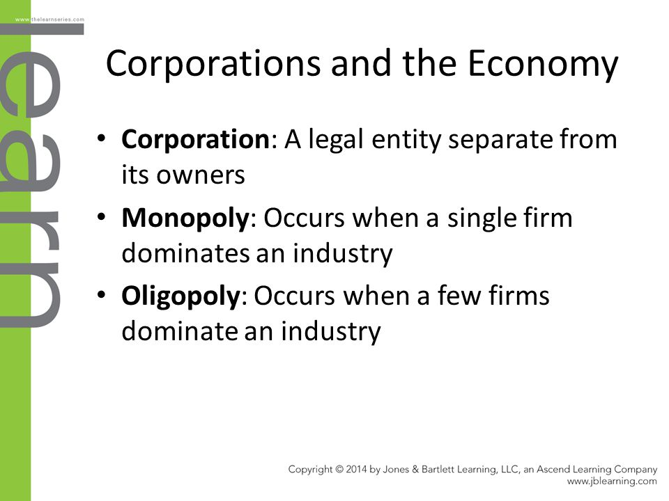 Corporations and the Economy